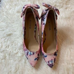 JustFab Shoes - Just fab spring floral high heel size 8